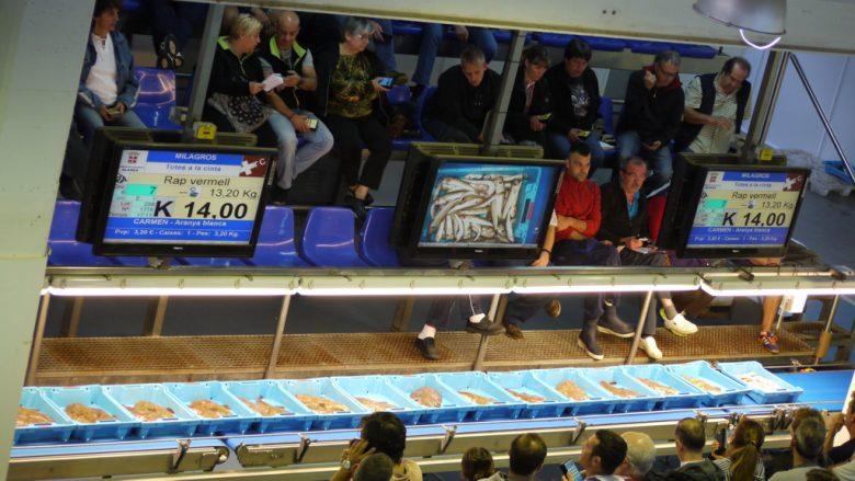 Auktion in der Fischhalle