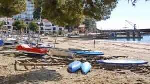Boote am Strand von LLafranc
