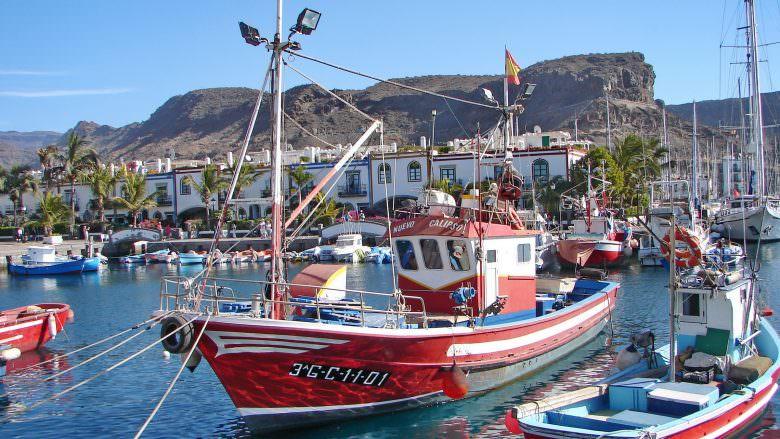 Fischerboote im Hafen von Mogán