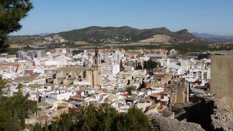 Blick auf die Stadt Sagunt