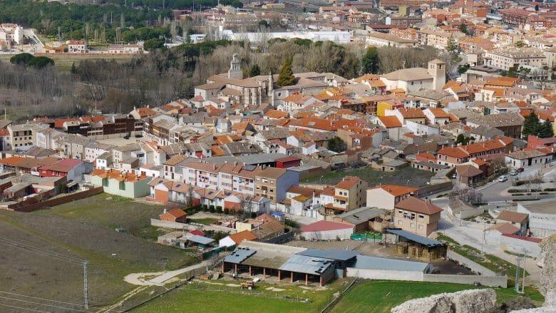 Blick auf den Ort Peñafiel