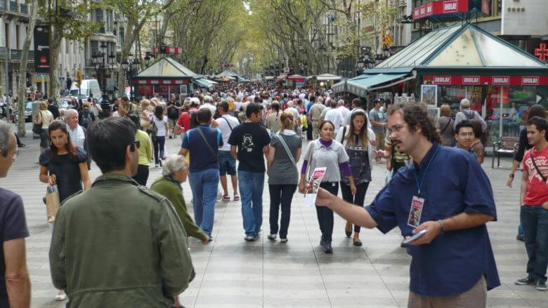 Les Rambles in Barcelona