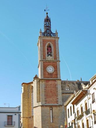An der gotischen Kirche Santa María in (Sagunto) wurde ab 1334 gebaut