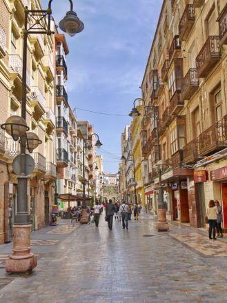 In der Innenstadt von Cartagena