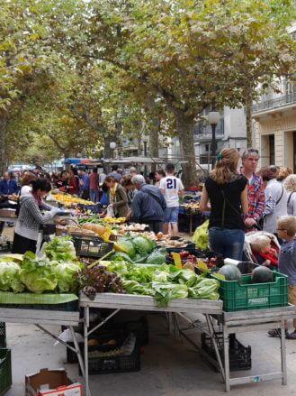 Auf dem Markt in der Innenstadt
