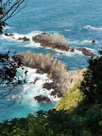 Klippen an der Costa Verde