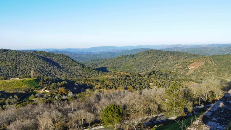 Typische Hügellandschaft der Sierra de Aracena