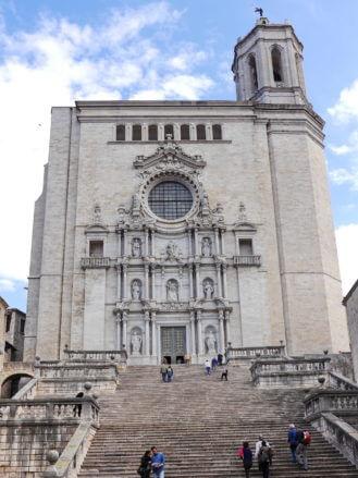 Treppe vor der Kathedrale von Girona