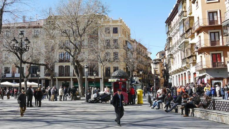 Plaza de Zocodover, der zentrale Platz in Toledo