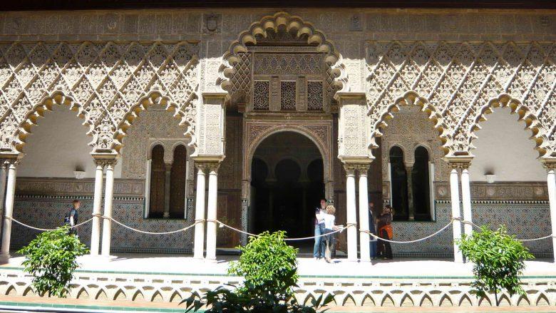 Der Palast von Pedro I. im Mudéjar-Stil in Sevilla