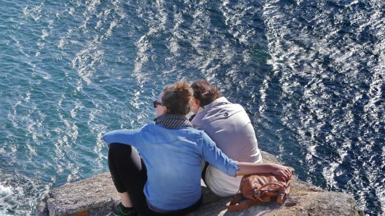 Cabo Fisterra: Hoch über den Klippen am Atlantik