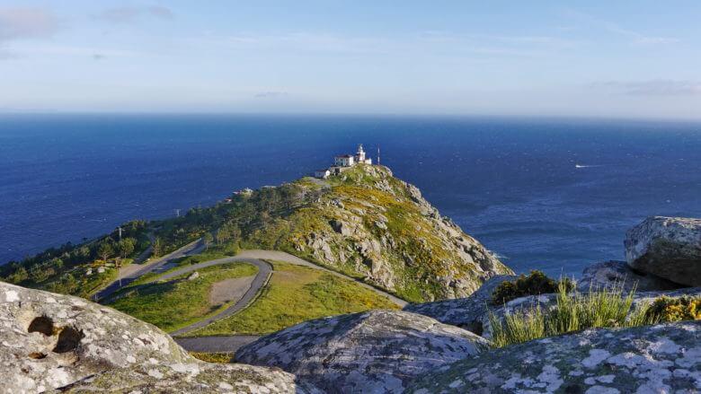 Blick vom Monte do Facho auf das Cabo de Fisterra