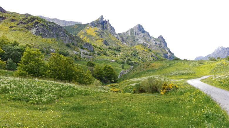 Berglandschaft im Naturpark Somiedo in Asturien
