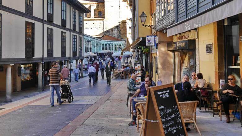 In der Altstadt von Oviedo