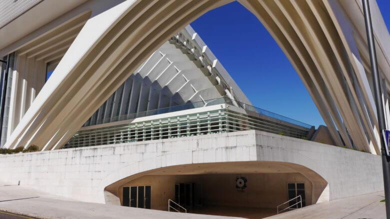 Der moderne Kongresspalast in Oviedo