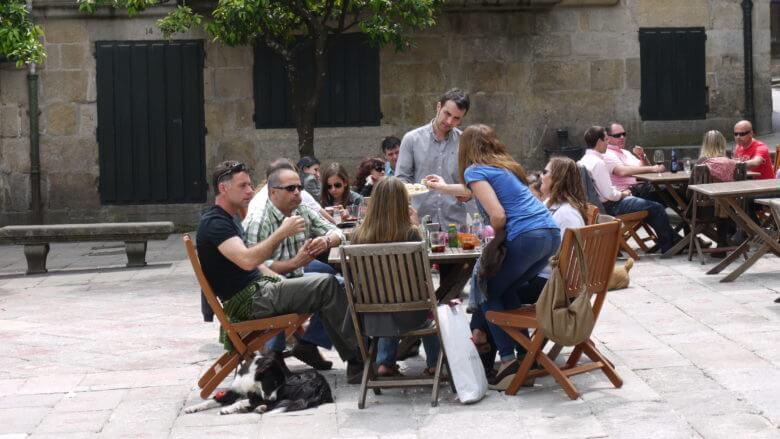 In der Altstadt von Pontevedra