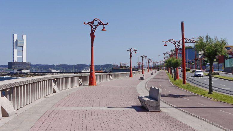 Auf der Promenade Paseo Marítimo Richtung Hafen