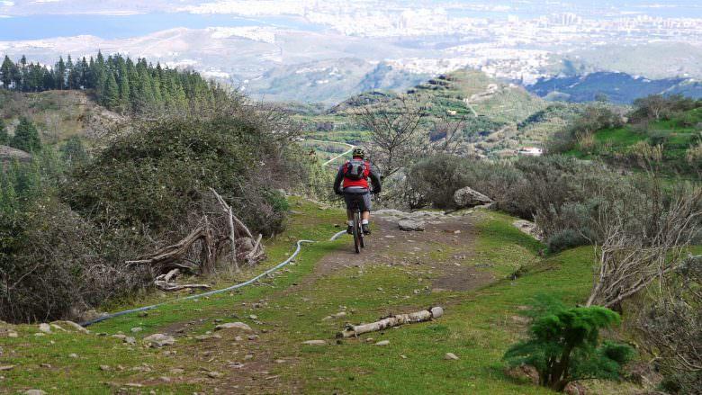 Rad-Wandern vom Cruz de Tejeda nach Tero