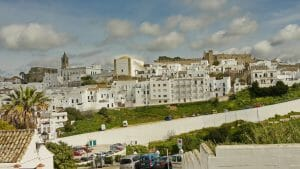 Die historische Altstadt mit Kirche und Casillo