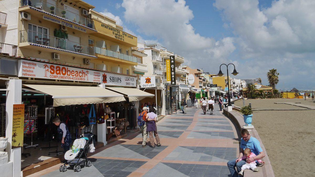 Auf der Strandpromenade de Torremolinos