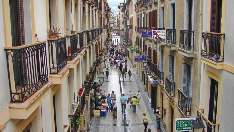 In der Altstadt von San Sebastian
