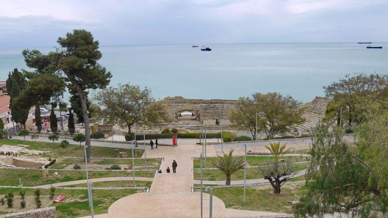 Blick auf das Amphitheater von Tarragona