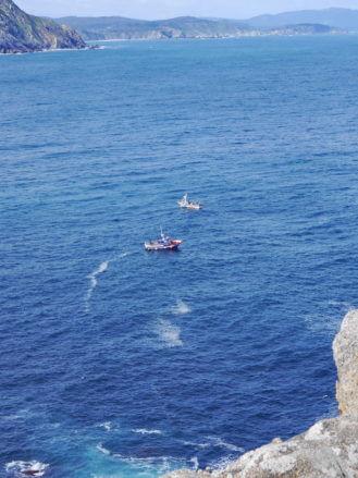 Fischerboote vor der Küste