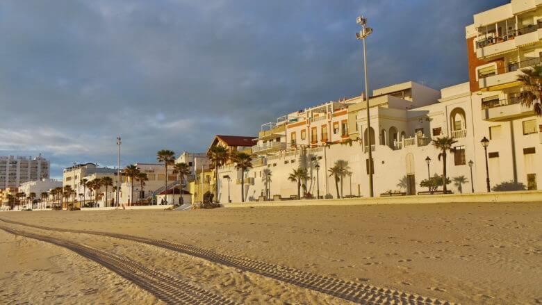 Ferienunterkünfte in der ersten Reihe am Strand von Rota