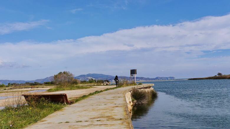 An der Mündung des Río Fluviá in den Golf von Roses
