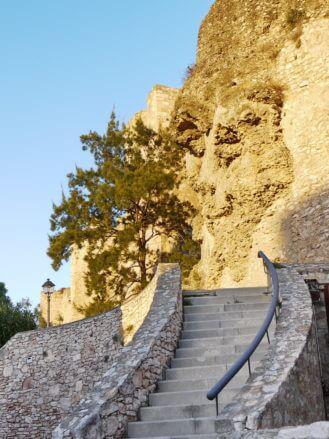 Aufgang zum Castell de la Suda