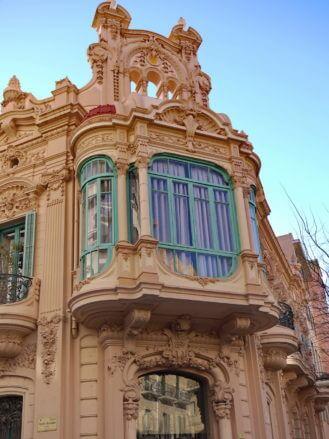 Katalanischer Modernismus: Casa Brunet in Carrer Miguel de Cervantes Nr. 7