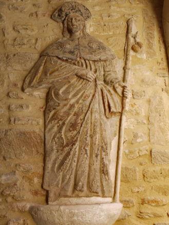 Der Heilige Jakob (Santiago) am Portal del Romeu in Tortosa