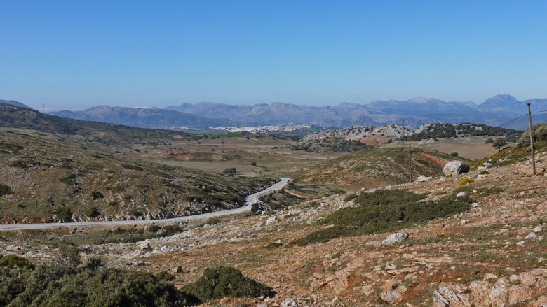 Der Pass Puerto del Viento bei Ronda (Provinz Málaga)