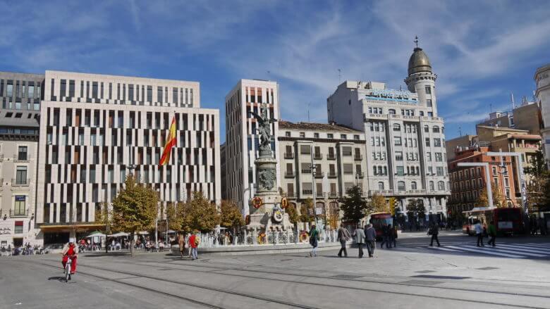 Plaza España in Zaragoza