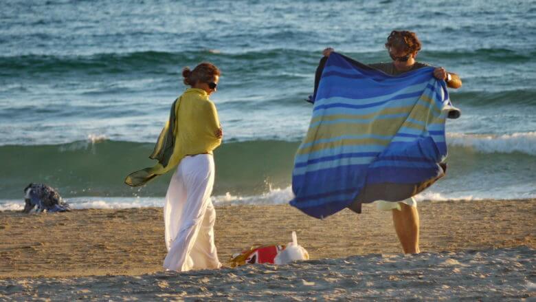 Aufbruch vom Strand