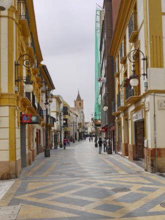 In der Fussgängerzone von Lorca