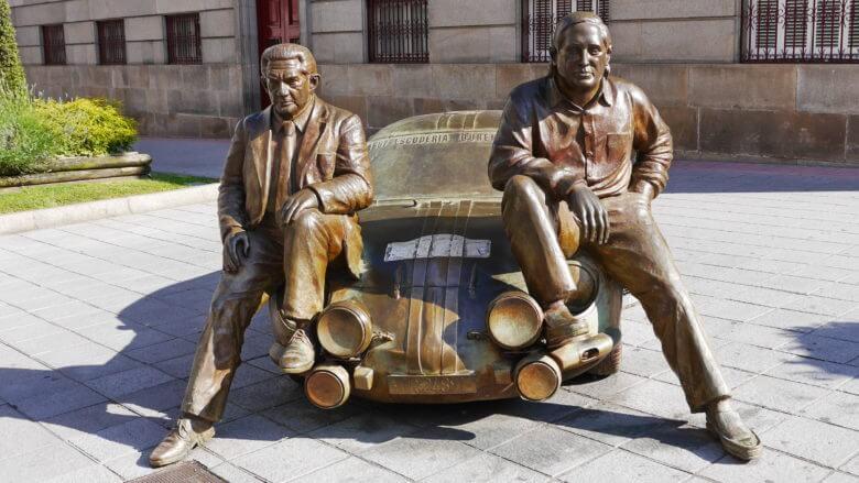 Straßenkunst in Ourense