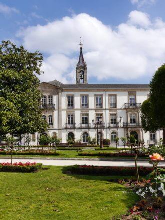 Der Hauptplatz Praza Maior in Lugo