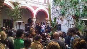 Flamenco Konzert in einem Innenhof in Jerez