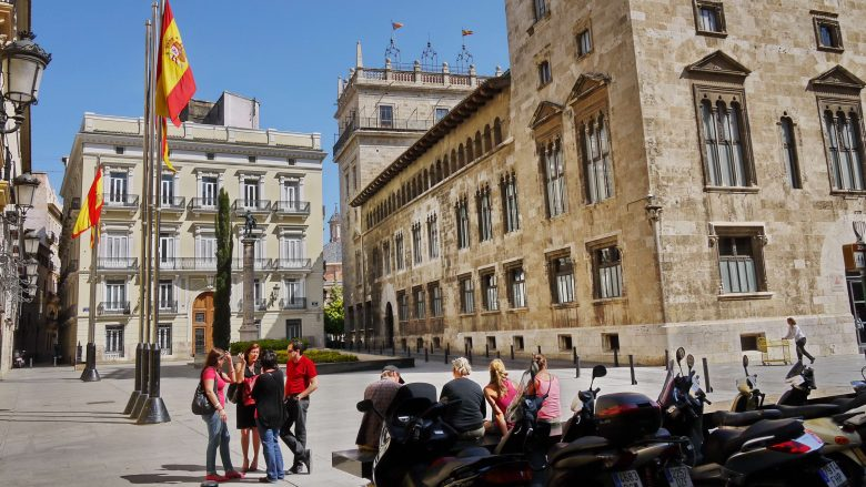 Palacio de la Generalitat im Barrio del Carmen in Valencia