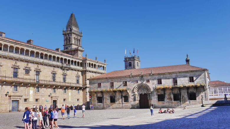 Xelmírez Palast und San Xerome Kolleg in Santiago de Compostela