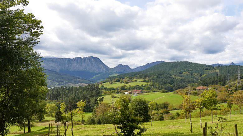 Die reizvolle Landschaft in der Umgebung von Elorrio