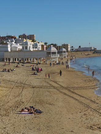 Playa la Caleta, der beliebte Stadtstrand von Cádiz