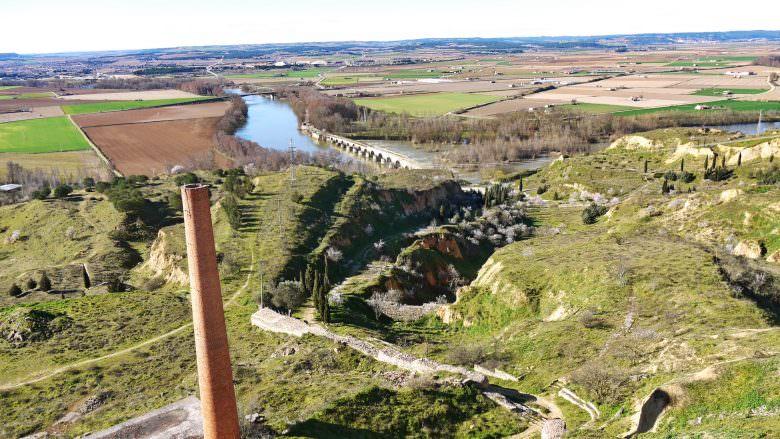 Blick in die fruchtbare Talebene des Flusses Duero bei Toro