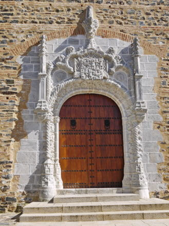 Kirche San Martín in Almonaster La Real (Provinz Huelva)