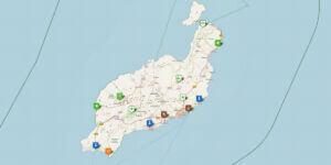 Lanzarote Karte mit Reisetipps