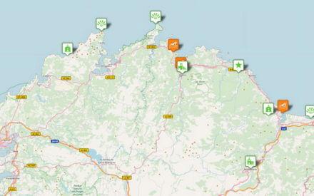 Karte Rías Baixas