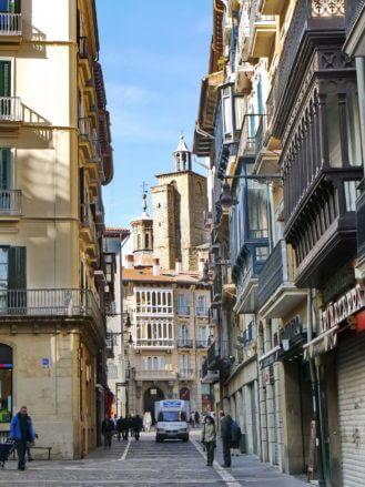 In der Altstadt von Pamplona