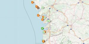 Reiseziele, Urlaubsorte und Städte auf der Rías Baíxas Karte