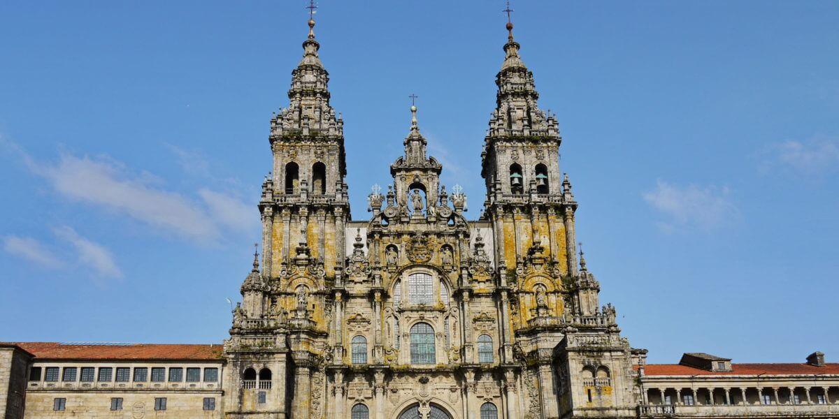 Die Kathedrale, die Sehenswürdigkeit in Santiago de Compostela in Galicien